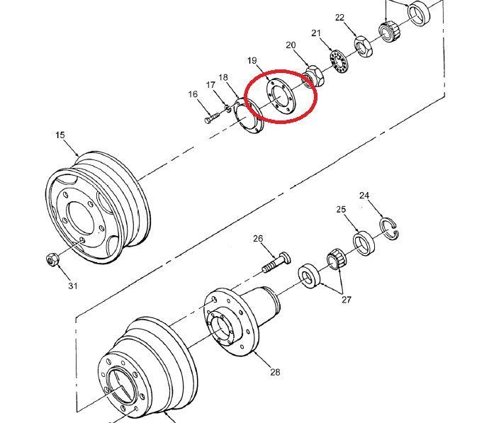 Gasket Wheel Hub Trailer M101a1 1450