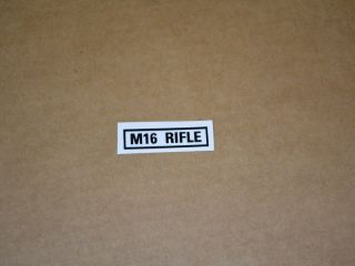 decal M16 Rifle 51 x 13mm M-series