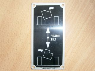 Hinweisschild  instruction FRAME TILT